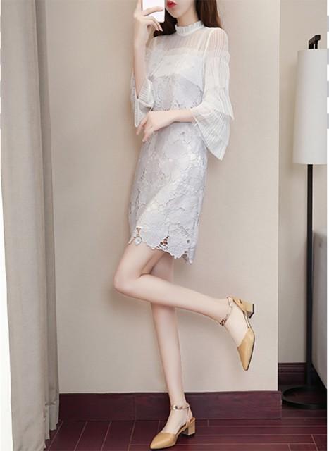 レースドレス S〜XXL 大きいサイズ ドレス レ...