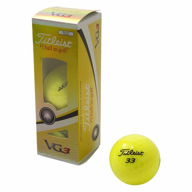 タイトリスト(TITLEIST)ボール  VG3 イエローパー...
