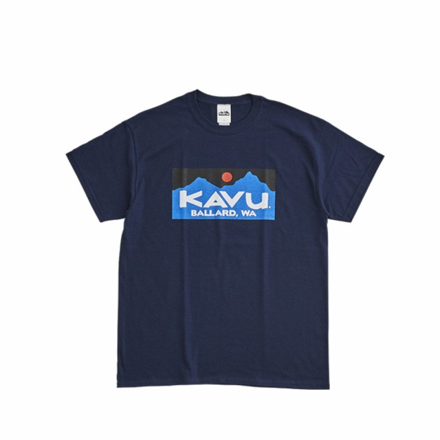 カブー(KAVU)バラードTシャツ 19821223 ネイビ...