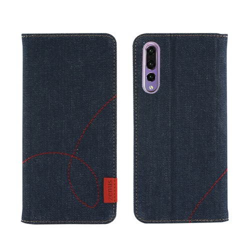 HUAWEI P20 Pro ケース 手帳型 ZENUS Denim Stitc...