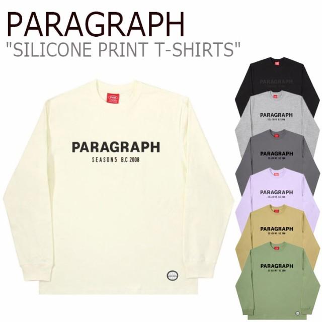 パラグラフ Tシャツ PARAGRAPH SILICONE PRINT T-...