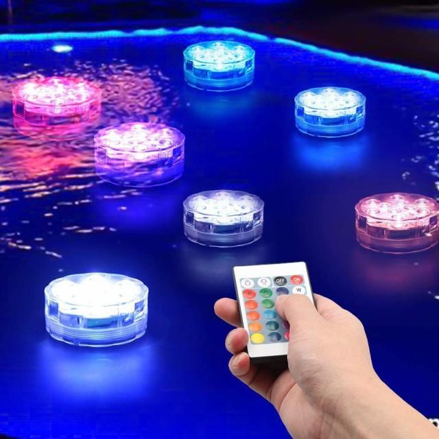 LED潜水ライト 水槽照明 バスライト リモコン イ...