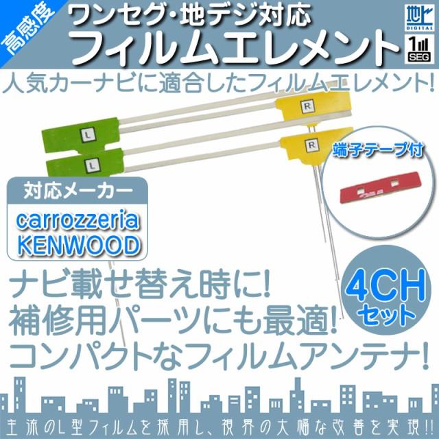 地デジ 4ch フィルム テレビアンテナ 端子テープ...