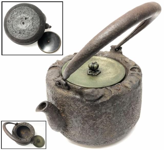 【送料無料】 鉄瓶 急須 茶壺 湯沸 修復なし 稀少...