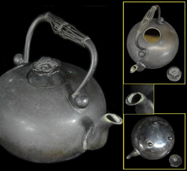 【送料無料】 錫瓶 急須 茶壺 湯沸 修復なし 稀少...