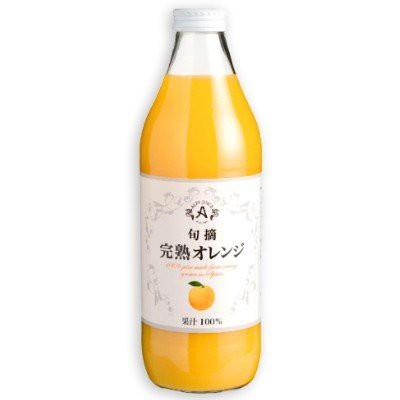 《送料無料》アルプス 旬摘 完熟オレンジ ストレートジュース 1L 果汁100%