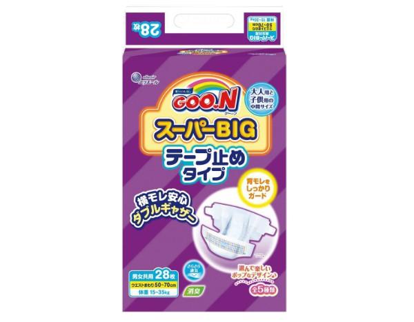 大王製紙 グーン スーパーBIGテープ 28枚...