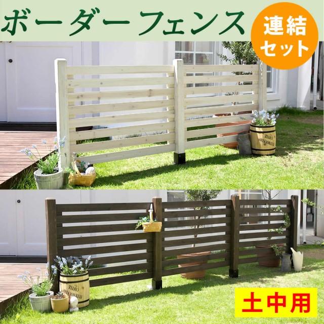 ガーデンフェンス ウッドフェンス 木製 ボーダー...