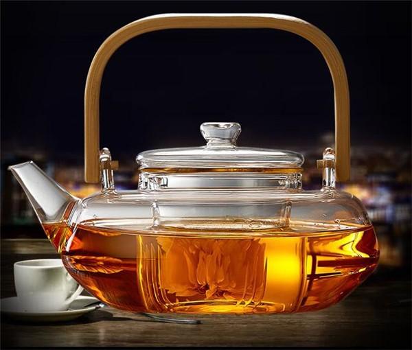 茶器 ガラス クラシック 透明 ティーポット ポッ...