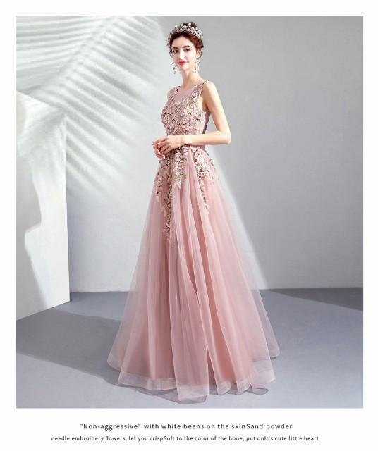 ピンク ウェディングドレス カラードレス ウェデ...