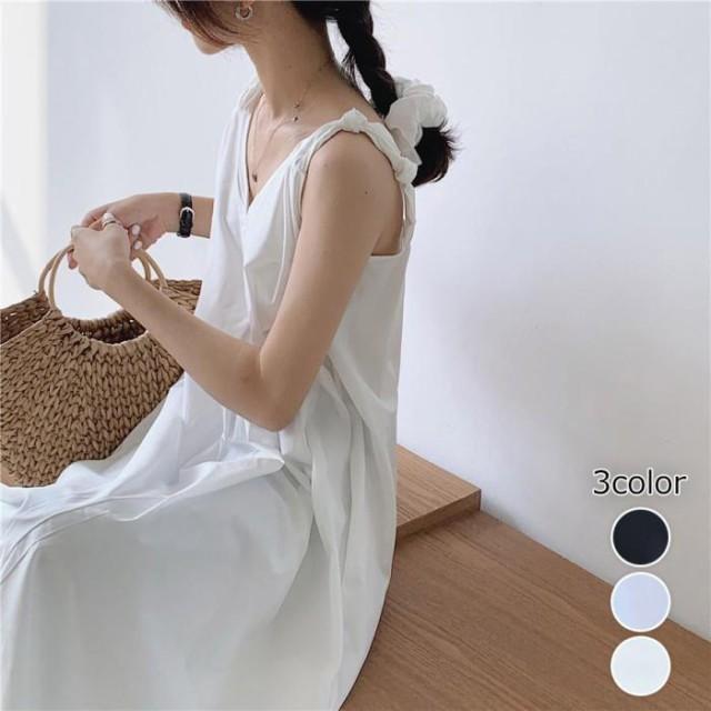 【2020春夏】【3カラー F】肩の結びデザインが可...