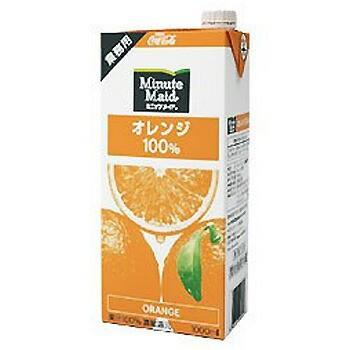 コカコーラ ミニッツメイド オレンジ100% 1L ×6...