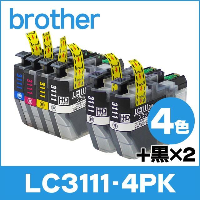 ブラザー プリンターインク LC3111-4PK LC3111BK ...