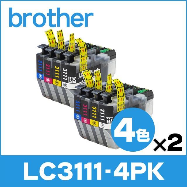 ブラザー プリンターインク LC3111-4PK 4色パック...