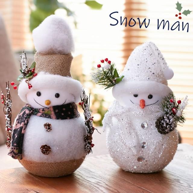雪だるま スノーマン オブジェ 置物 クリスマス ...