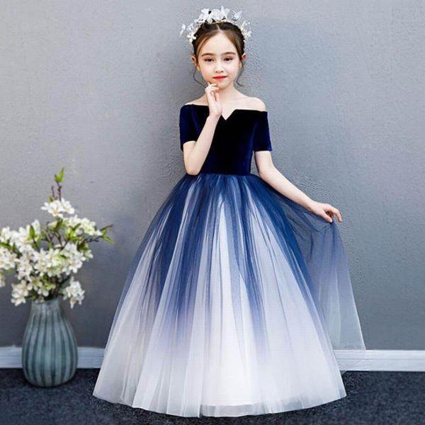 2019新著 子供ドレス ピアノ発表會 ジュニアドレ...