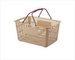 ショッピングバスケット U−33 ベージュ/エン...