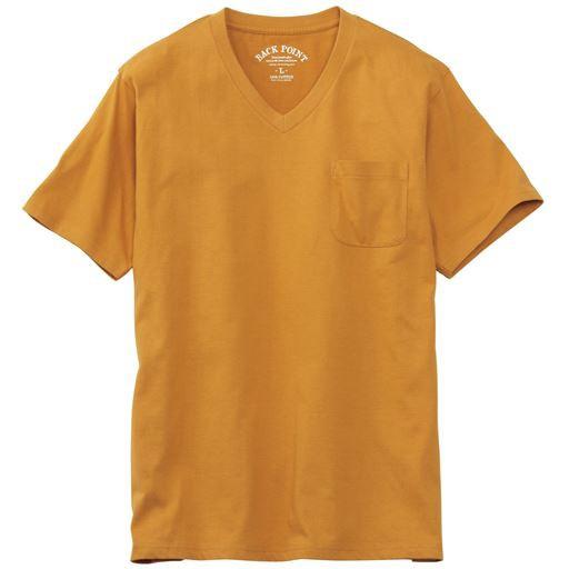 オーガニックコットン100%素材のVネックTシャツ(...