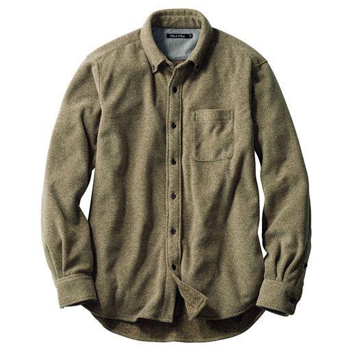 【バーゲン】杢調フリースベーシックシャツ。軽く...