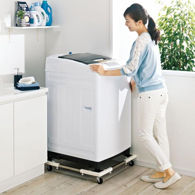 耐荷重約150kg ステンレス洗濯機置き台【洗濯機設...