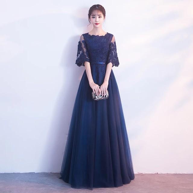 春新作 ロングドレス 演奏会 ドレス 人気 花嫁 パ...