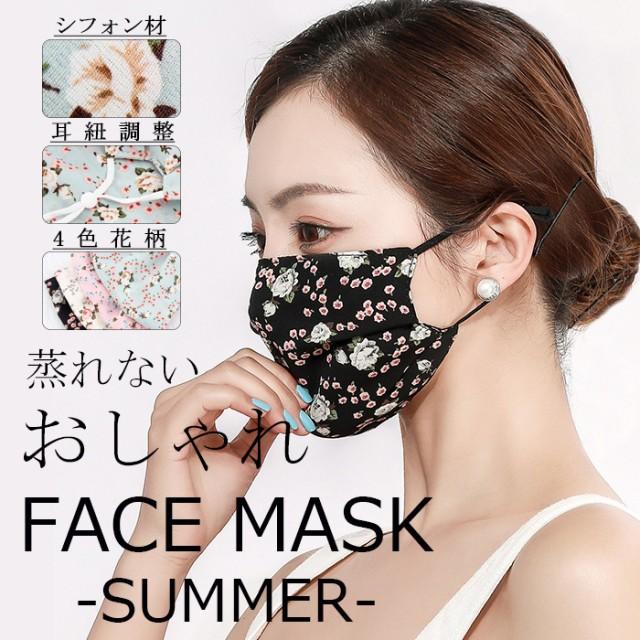 マスク 2枚セット 洗えるマスク 2層 レディース ...