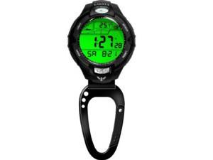Dakota ダコタ クリップウォッチ UVセンサー・クリップ時計 (ブラック) 5気圧防水・紫外線センサー・潮汐計・アラーム