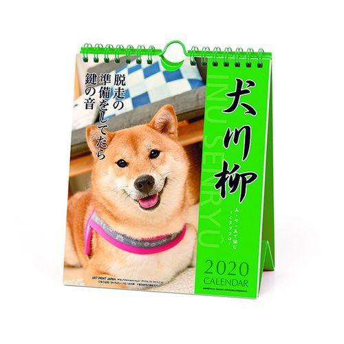 犬川柳 週めくり 2020 カレンダー 壁掛け & 卓上...