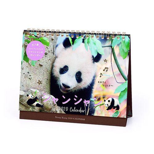 シャンシャン カレンダー2020年 卓上 上野動物園 ...