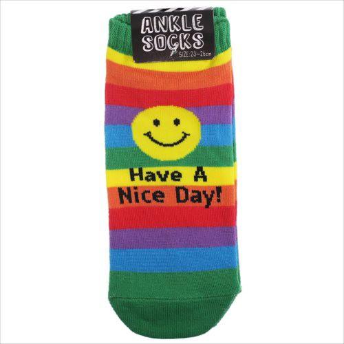 RAINBOW SMILE レインボースマイル 男女兼用靴下 ...