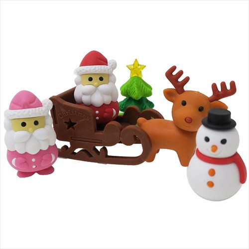 クリスマス ケシゴム 立体 おもしろ 消しゴム ブ...