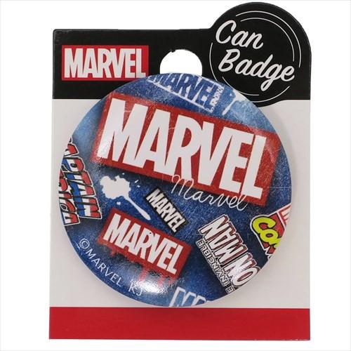 MARVEL 缶バッジ 44mm カンバッジ BOXロゴ デニム...