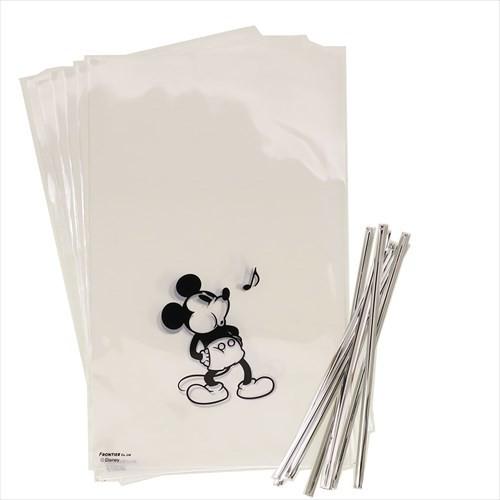 ミッキーマウス ラッピング 用品 ギフト袋 & ワイヤータイ 8セット ラフ ディズニー キャラクターグッズ メール便可