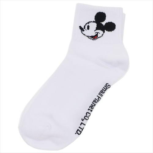 ミッキーマウス 女性用白靴下 レディースクルーソ...
