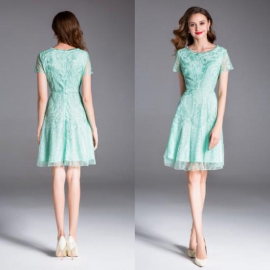 フラワー 刺繍 ミニ ドレス 繊細 壮麗 結婚式 パ...