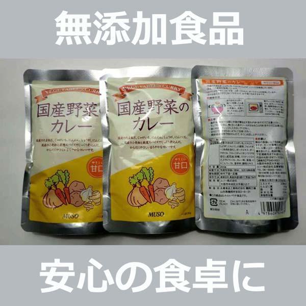 無添加 国産野菜のカレー レトルト【甘口】200g...