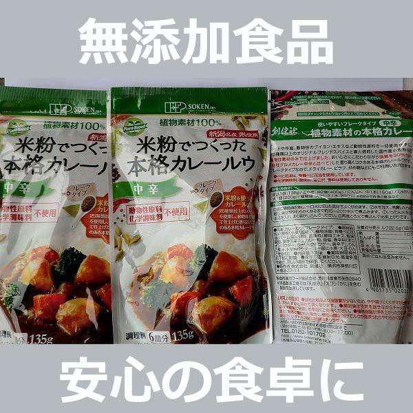 無添加  米粉でつくった本格カレールゥ【中辛】 1...