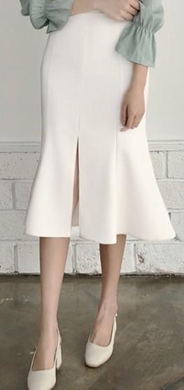 マーメイドラインスカート ミモレ丈 大きいサイズ...