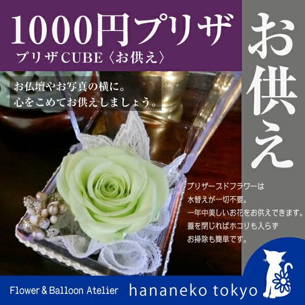【送料無料&ラッピング付】1000円プリザキューブ...