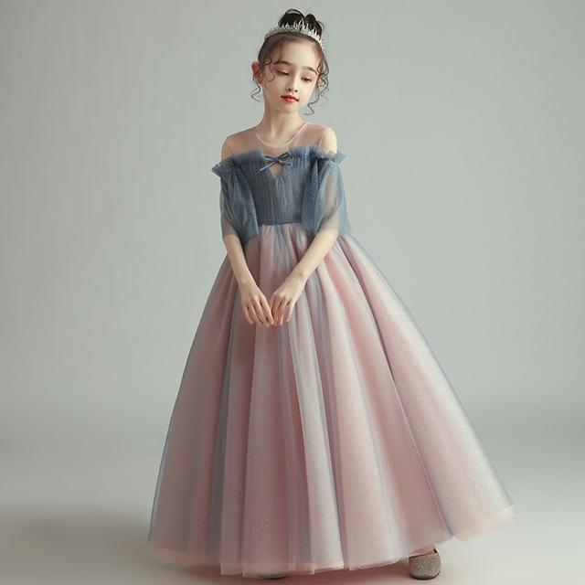 子供 ドレス ロング プリンセス 大人っぽい ピン...