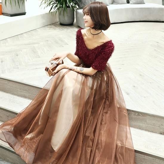 パーティードレス ロング 結婚式 演奏会 ドレス ...