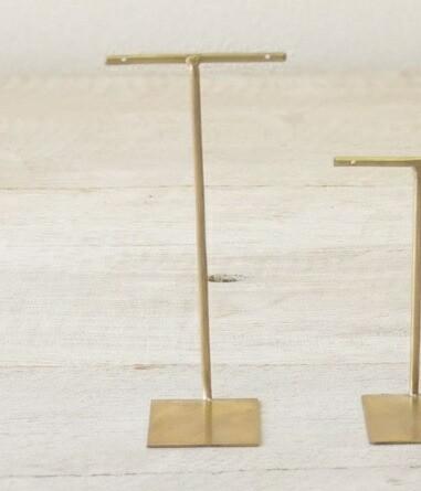 ブラス アクセサリー スタンド L 12.5cm Horn Ple...