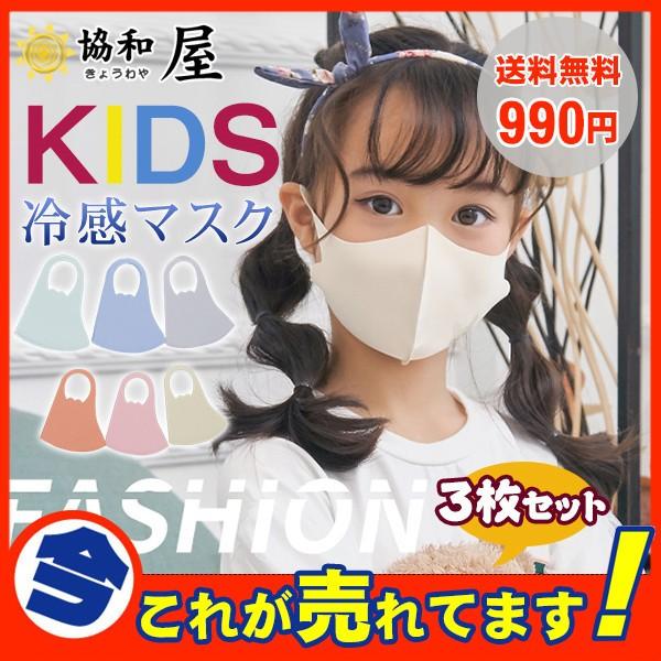 子供用マスク 冷感マスク 小さめ 夏用マスク 洗え...