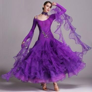 【サイズ選択可】社交ダンス ドレス スタンダード...