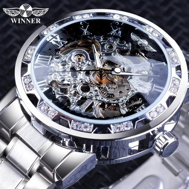 スケルトン 機械式 腕時計 日本未発売 メンズ 高...