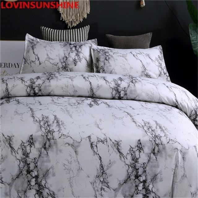 シングルサイズ 大理石のラインの寝具セット シン...