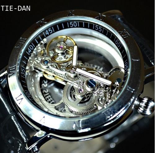 timeless design 8bb20 cc2d8 TIEDAN メンズ 機械式上時計 自動巻 スケルトン トゥールビヨン ...