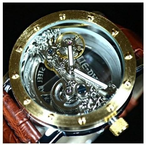M0055■フルスケルトン 腕時計 TIEDAN メンズ 機...