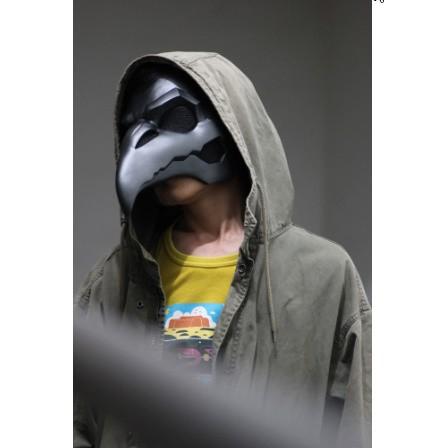 レトロカラスマスク ペストドクターマスク くち...