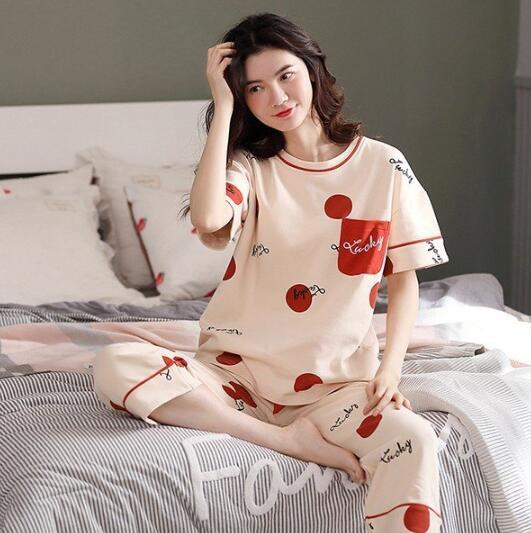 半袖 Tシャツ 七分丈パンツ 2点セット パジャマ ...